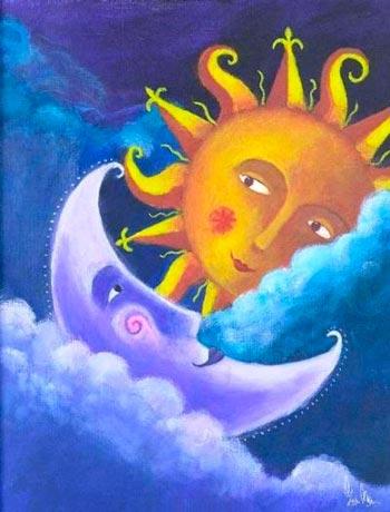 fases da lua e sol