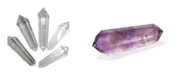 cristaloterapia cristais biterminados de quartzo e ametista