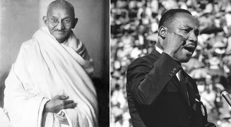 Ahimsa história Gandhi Martin Luther King