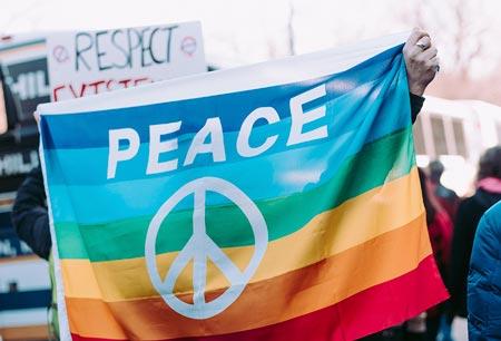 Prostesto pela paz e respeito