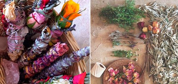 exemplos de incensos naturais com flores