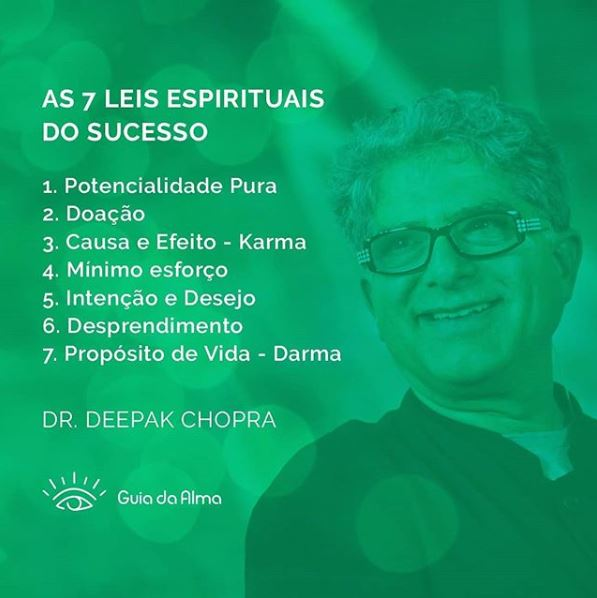 as sete leis espirituais do sucesso de deepak chopra