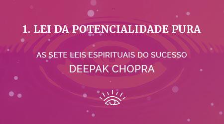 1 lei da potencialidade pura - as sete leis espirituais do sucesso de deepak chopra