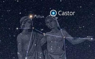 constelação de gêmeos - irmãos castor e pollux