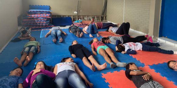 registro de aula de yoga