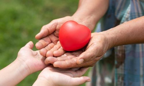 leis espirituais do sucesso: lei da doação - mãos com coração