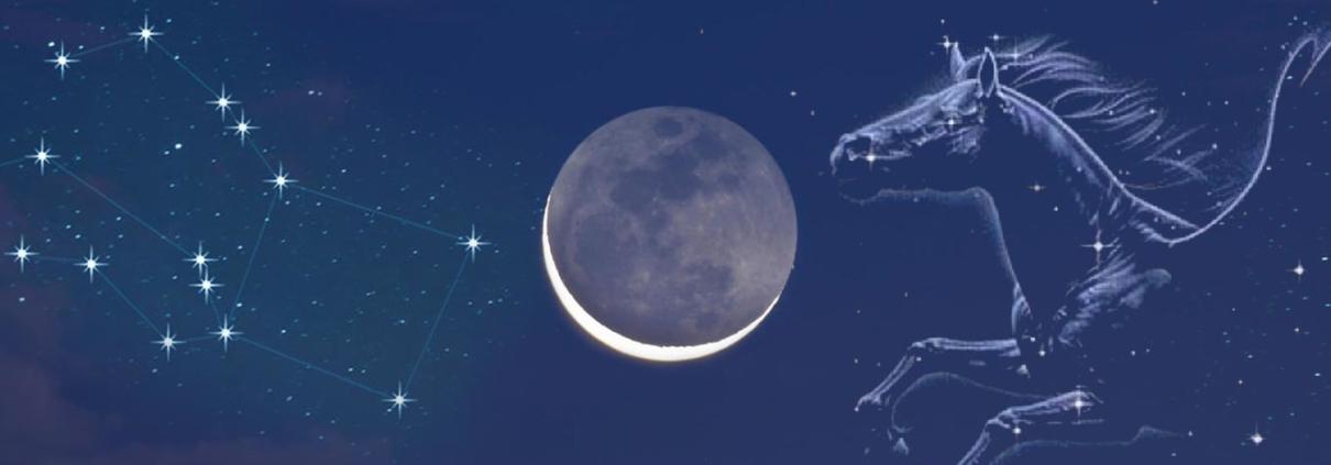imagem da lua nova - mensagem canalizada de pegasus