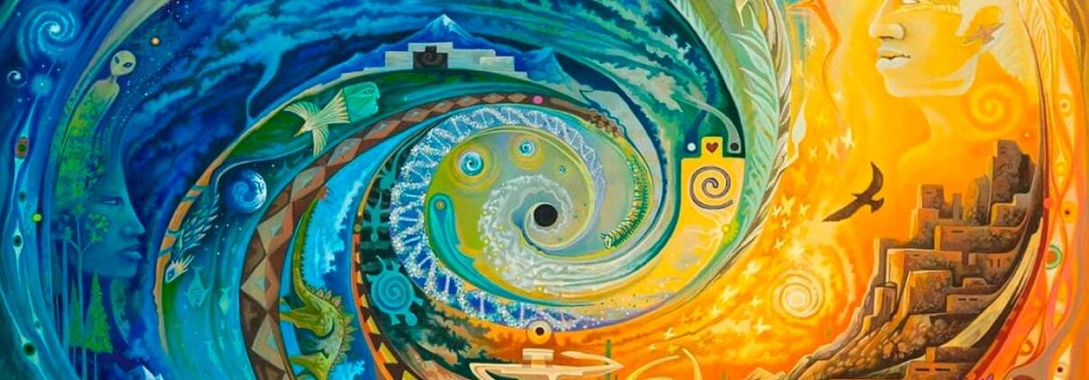 mensagem canalizada: sentido da vida - arte espiral por sam brown