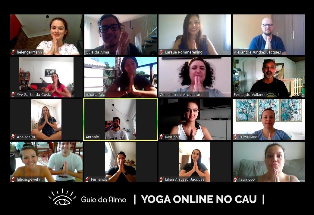 yoga online para empresas - guia da alma