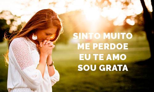 as 4 frases do Hooponopono: sinto muito, me perdoe, eu te amo, sou grata