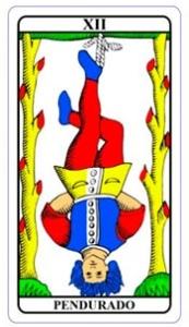 tarot hoje - carta do dia: pendurado