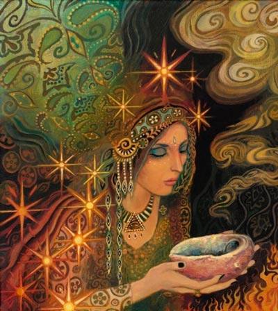 Cigana iluminada - Conceito para Mensagem cigana canalizada Ilustrações: Emily Balivet