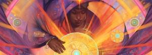 Sentir com o coração: meditação - ilustração de Julie Dillon