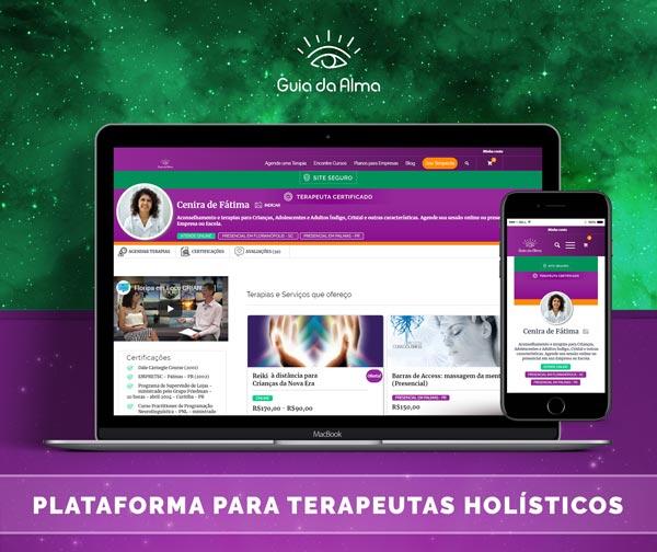 guia da alma: plataforma para terapeutas holísticos