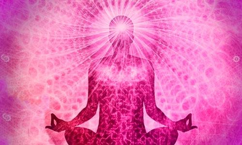 formas-pensamento no thetahealing - ilustração de pessoa meditando