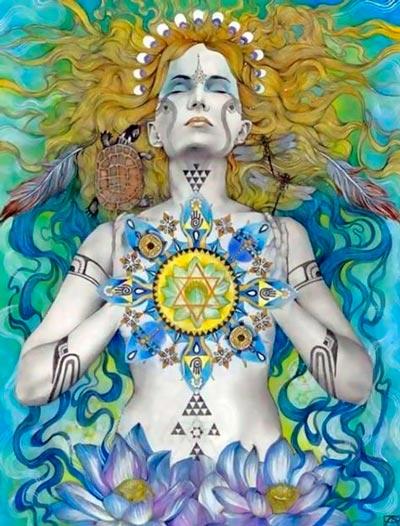 Glândula Timo e Anahata Chakra - ilustração de Patricia Ariel