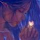 Uma mensagem de Fé e Confiança de Shantar - Ilustração mágica de WLOP - Mulher em mãos de oração com borboletas brilhantes