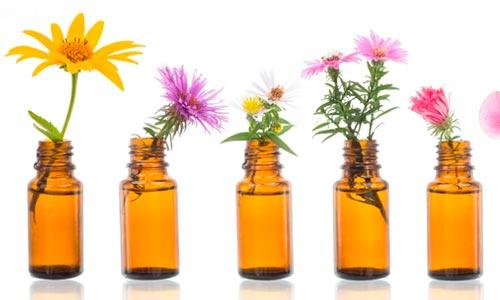 frascos de florais na gravidez