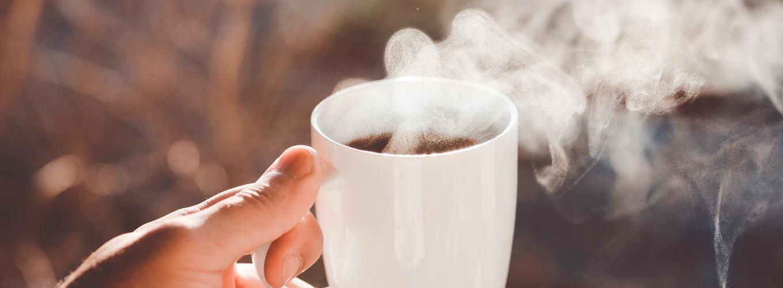 manh, café e bons pensamentos
